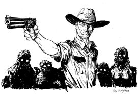 Walking Dead Ed Grimes commission by Dogsupreme
