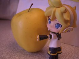 Len, an apple lover by Toy-Parade-Conductor