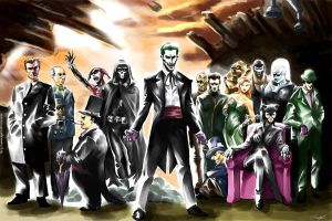 Batman Rogues Gallery by ninjaink