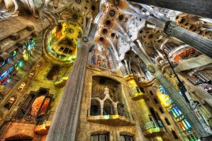 sagrada familia in barcelona by pwsasus