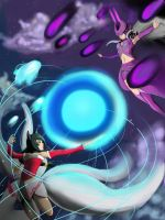 Ahri Vs Syndra by KindCoffee