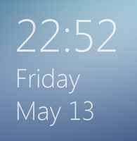 Windows 8 build 7955 Clock by TheBlackParrot