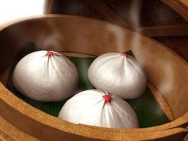 Pork Steamed Buns by ozhai87