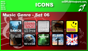 Music Genre Icons - Set 06 by od3f1