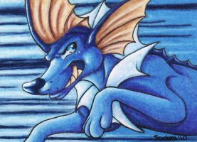ACEO- Vaporeon by SombraStudio