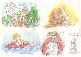Acquarelle doodles 003 by LeSam
