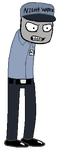 .::Rebornica's Mike the Security Guard sprite::. by Kalza