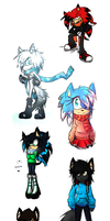 all my characters winter designs +BIO'S ADDED+ by shadzter