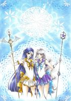 C: Sailor Fabula and Sailor Pollux by Toto-the-cat