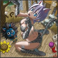 Lisanna Sexy Cat by drake---666