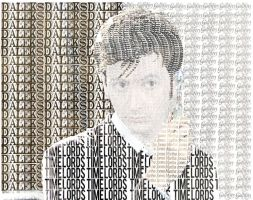 David Tennant as Tenth Doctor Typography by Atlantagirl