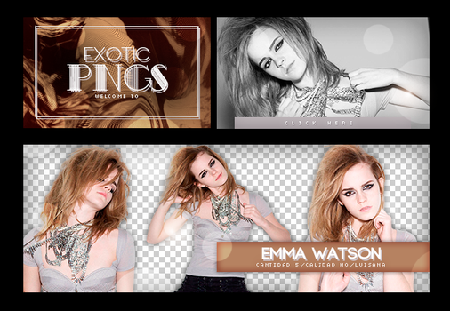 Pack Png 741 // Emma Watson by ExoticPngs