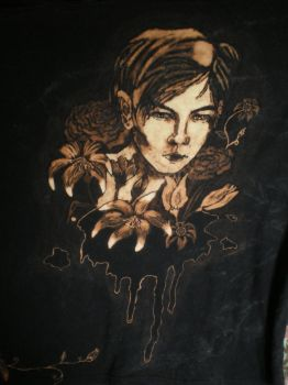 Flowers of Evil Bleach painted T shirt 1 by raewhitewolf