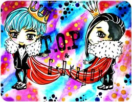 Chibi T.O.P and G-Dragon by KaiLEECH