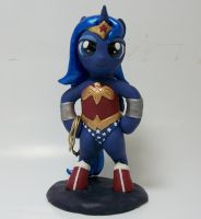 Wonder Woona custom sculpture 4 SALE by MadPonyScientist