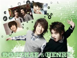 Donghae and Henry Wallpaper by ForeverK-PoPFan