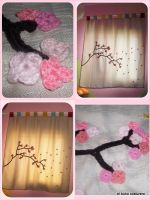Cherry blossoms curtain by elbuhocosturero