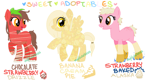 MLP- Sweets Adoptables #4-6 - CLOSED by MyLilAdoptables