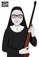 Nun with a gun by Yorick88