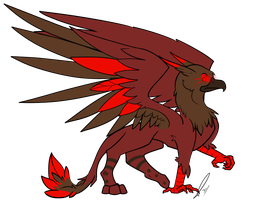 Red Griffin Adopted by jaclynonacloud