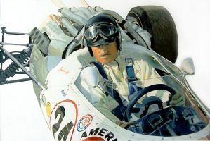 Graham Hill by johnwickart