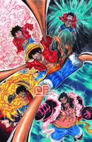Mugiwara Series: Monkey D. Luffy by Pixelated-Takkun