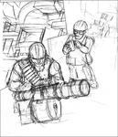 Sketch - Heavy and Engineer at Control Point by nickworcester
