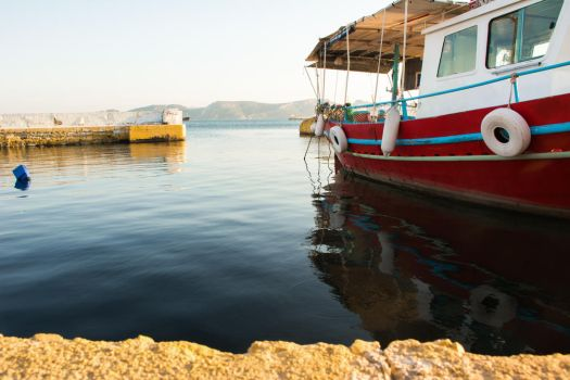 Red Fishing Boat by Parachromal