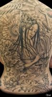 Geisha Backpiece WIP Detail by Loren86