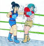 Boxing Chi-Chi vs Bulma by Jose-Ramiro