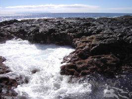 ocean with cliff 4 by maryllis-stock