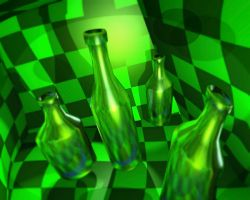 Green Bottles by Crazywulf
