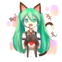 Neko Miku! by Corrinella
