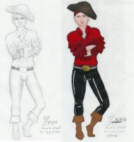 Amaris dressed as a pirate guy by nimisha