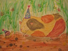 Pig and Snail by Sakilia