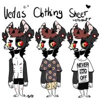 Clothing Ref Sheet 2.0 by uetomutt