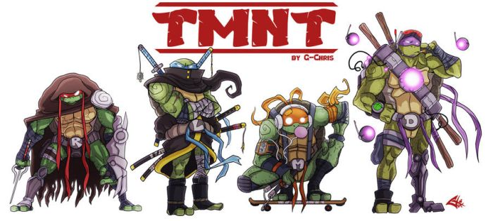 The Teenage Mutant Ninja Turtles by G-Chris