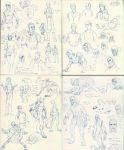 Doodle Diary pages 19-22 by The-Alchemists-Muse