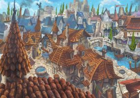 Medieval city concept by davidhueso
