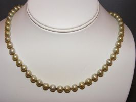 8mm Fresh Water Pearl Necklace by lisagems