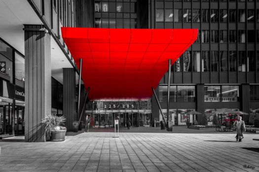 geometry in red - Chicago by Rikitza