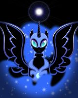 (REMASTERED) Nightmare Moon Shines Bright by DarkLight02