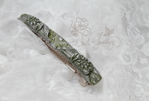 Silver Celtic barrette by Tuile-jewellery