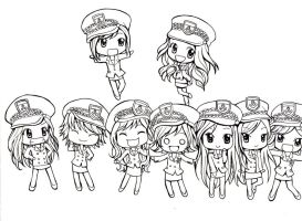 SNSD Chibi Version by Yuinea
