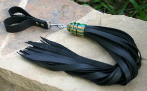 Rainbow Laminate and Leather Flogger #145 by NaamahFeral