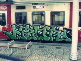 Train Grafitti by Fluessiges-Feuer