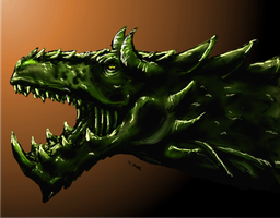 green dragon head by GWolfG
