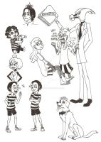 Beetlejuice Sketch Dump by 13foxywolf666