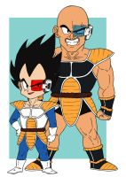 DBZ-Vegeta and Nappa by nuke-no-jutsu