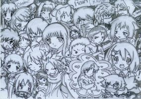 Mehh, Collage Anime Characters by LouieJohn08